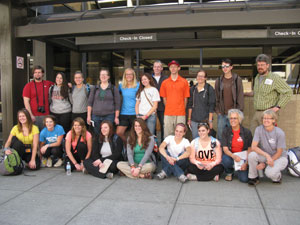 Phot of Africa study abroad group.