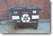 Recycling Bin with logo.